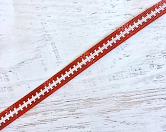 3/8 Vintage Football Ribbon - US Designer Ribbon
