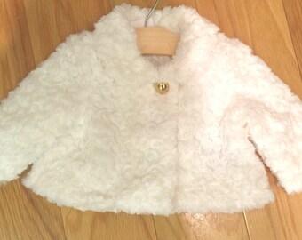 Girls faux fur coat | Etsy