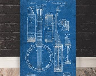 Banjo Patent Print