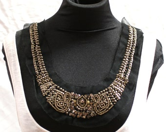 Steampunk Beaded Fashion Collar - JR09273