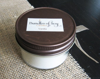 Vanilla 4 oz soy candle