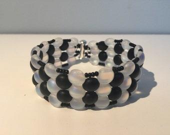 Black and opal Candy bead bracelet