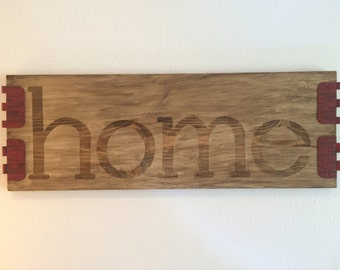 Country Rustic Home Sign