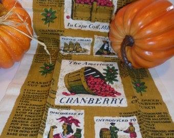 Vintage American Cranberry Linen Towel