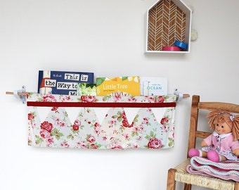 Children's Floral Book Sling Kit/ book shelf/children's gift/nursery furniture/new baby/christmas gift/birthday