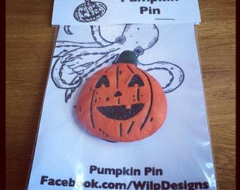 Halloween Pumpkin Pin Version 1 (of 3) Jack'o Lantern