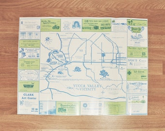 Vintage 1970s Yucca Valley Area Guide w/ map | Joshua Tree, Morongo Valley, Pioneertown California desert