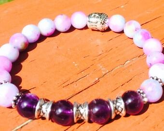 Amethyst & Purple Jade