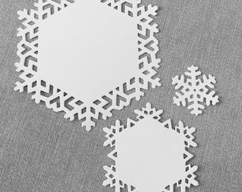 Snowflake die cut bundle