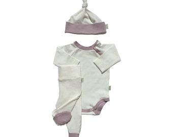 """Newborn set """"Vanilla Ice Cream"""" for baby girl"""
