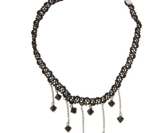 90's Style choker with beads
