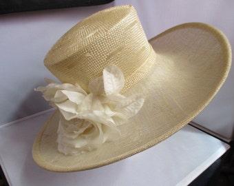 Wedding/ASCOT/BRIDAL/FormaL, DEBUT designed ladies  hat Size-M