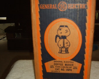 "Vintage Collector Vacuum Coffee Maker by General Electric ""New"" in original box"