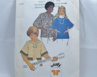 Vintage Simplicity Pattern 6864 Size Small Jiffy Pullover Top Complete    (15)