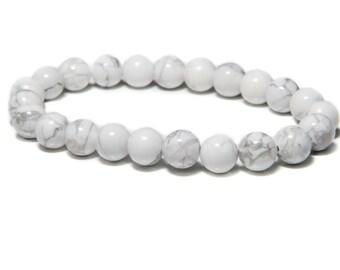 White Howlite Bead Bracelet | Spiritual Bracelet