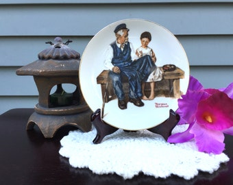 The Lighthouse Keeper's Daughter, Vintage Collectible Plate, Norman Rockwell Series, Souvenir Plate, Collectible Plate, 1982
