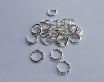 100 jump rings - 6 * 0. 7 mm - silver plated / H1-0426