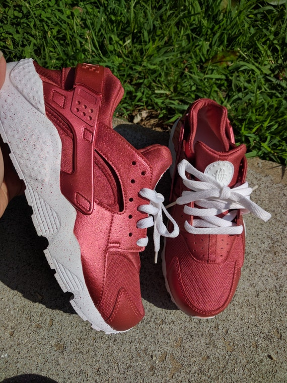 3cf08402bb10e Items similar to 7 colors available. Custom Rose Gold Nike Huarache (more  colors available)
