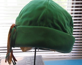 Vintage Green Velour Hat Bamberger's Free Shipping