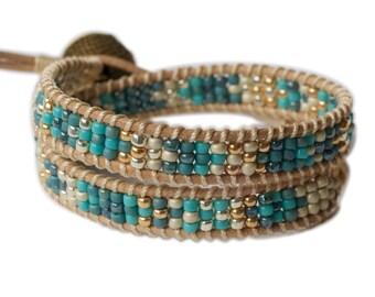 Beaded Double Wrap Bracelet