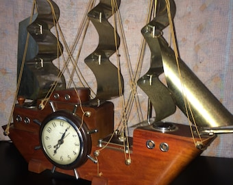 Pirate Ship Clock/Lamp