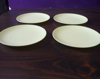 Yellow Texas Ware small plates