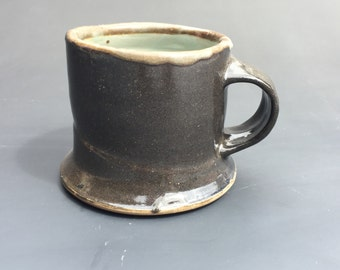 wide salt fired mug