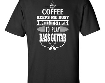 Bassist T-shirt - Coffee And Bass T-shirt