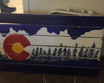 Colorado Palette With Mountains and Trees