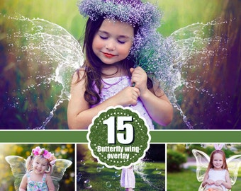 15 Angel butterfly Wings Photo Overlays, Photography Overlays, Photography Photo Prop, magic fairy fantasy wight wing, png file