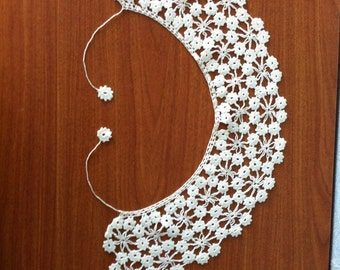 Vintage knitted collar
