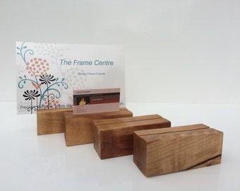 Wooden Business Card Holder Reclaimed Hardwood Handmade