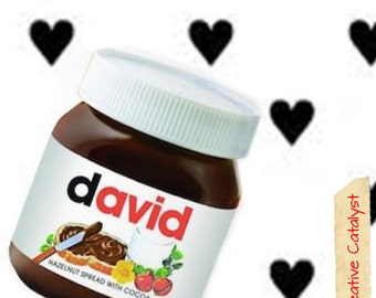 Personalized Nutella Jars