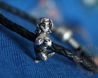 Mermaid by Sashini beads design  925 sterling silver bead charm  fits european bracelet jewelry