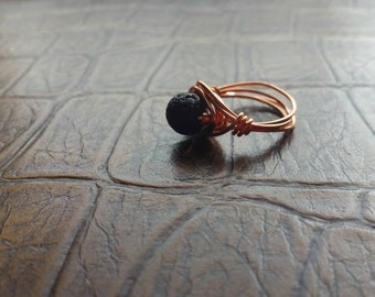 Lava Ring with Copper