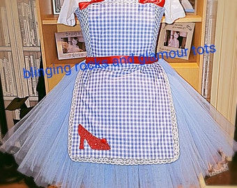 Dorothy inspired tutu comes with shoes
