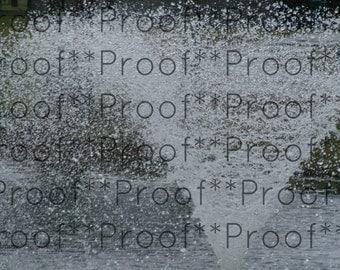 """Fountain  Lithograph 22.3"""" x 34"""""""