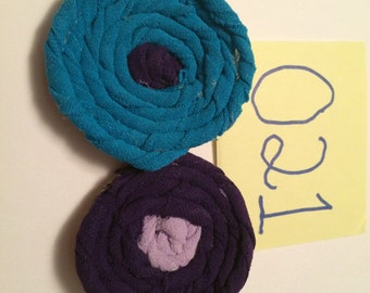 Blue and Purple Hair Clips
