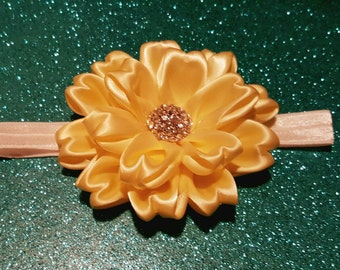 "Bling ""Heart"" Petal Flower Headband"