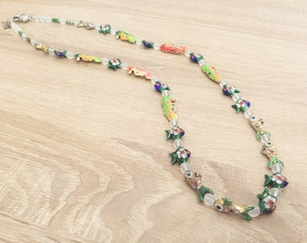 Custom necklace with cloisonne beads - unique