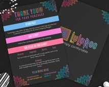 Lularoe Thank You Card, Free Personalization, Instant Download, PSD, PDF, Lula Thank You, 5x7 Inches, Lularoe Return Policy, Care Card