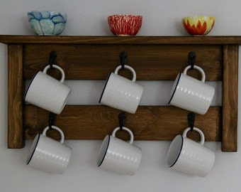 Coffee mug rack