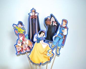 Disney Snow White Set of 5 Centerpiece Picks (Double-Sided)