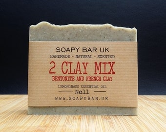 2 Clay Mix 'Bentonite and French Clay' Natural Handmade Soap