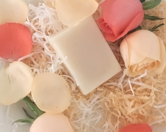 Rose cold process soap