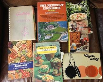 Lot of 7 Cookbooks 1950s-1990