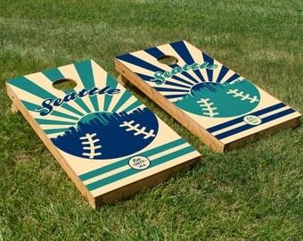 Seattle Mariners Cornhole Board Set