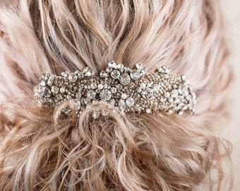 Flora - Vintage Style Bridal Crystal Beaded Haircomb