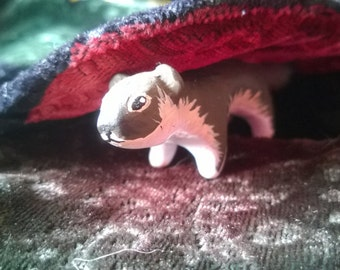 Polymer Clay Totem Talisman Animal Figure Stoat