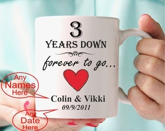 3rd anniversary wedding gift personalised gift present personalized third anniversary gift idea any names